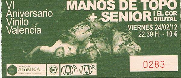 Manos de Topo - Valencia entrada