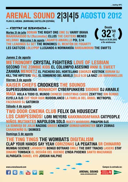 El Arenal Sound 2012 cierra su cartel con The Sounds