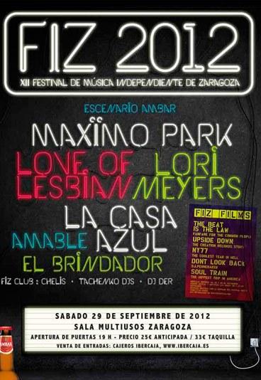 Confirmado el cartel del FIZ 2012