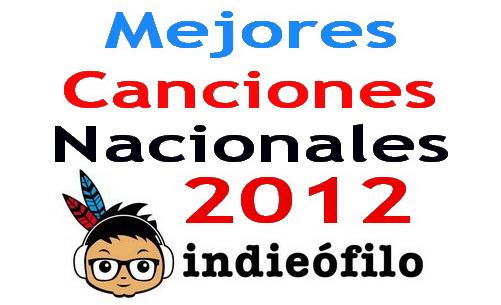 Las mejores canciones nacionales de 2012