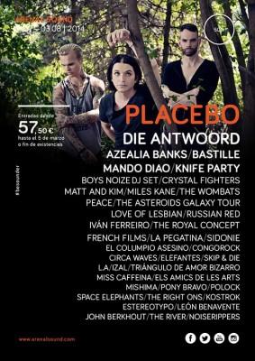 Placebo se incorpora al Arenal Sound