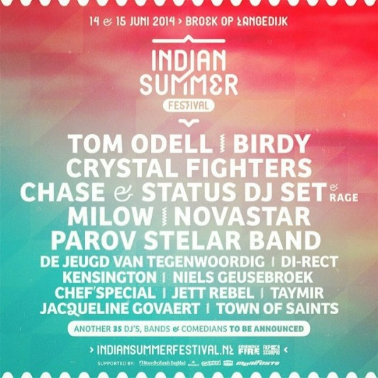 Indian Summer 2014 confirms first names