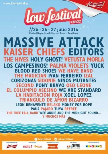 Massive Attack y Kaiser Chiefs confirmados para el Low Festival 2014
