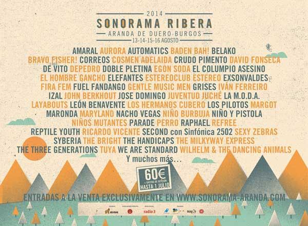 Nuevos nombres para el Sonorama 2014