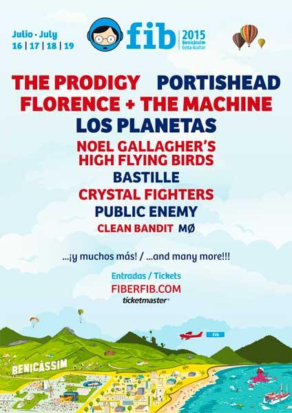 El FIB 2015 da la campanada con Public Enemy, Portishead y Noel Gallagher entre otros