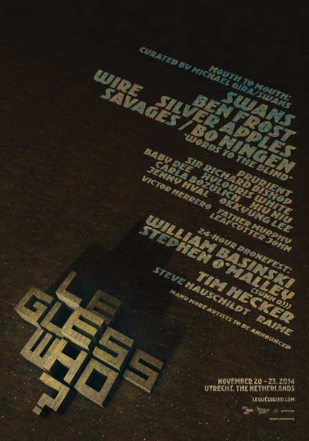 Le Guess Who? 2014 annonces a 3-day program curated by Swans Michael Gira