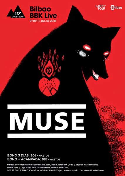 El Bilbao BBK Live 2015 confirma a Muse como cabeza de cartel