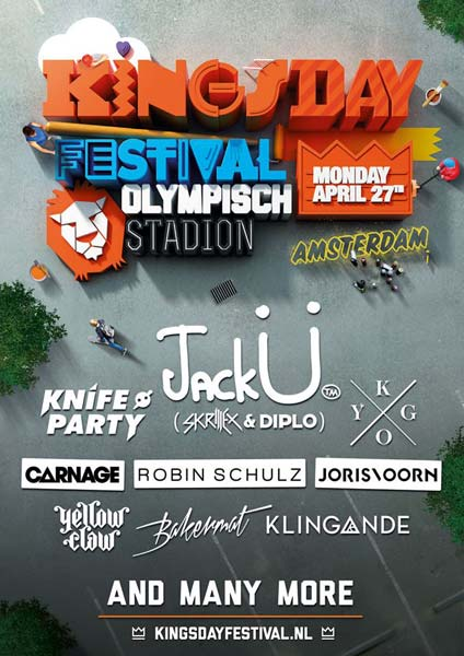 Jack Ü and Knife Party, main names of Kingsday Festival 2015
