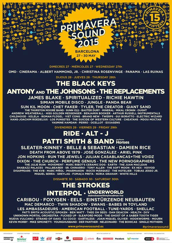 The Black Keys, Patti Smith o Interpol, estrellas del cartel completo del Primavera Sound 2015