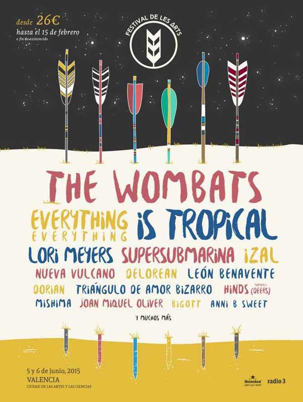 The Wombats, Supersubmarina, Nueva Vulcano, Hinds y Joan Miquel Oliver al Festival de Les Arts