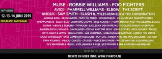 Pinkpop 2015 - Line Up March