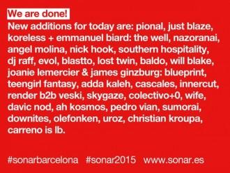 Sonar 2015 - Pional