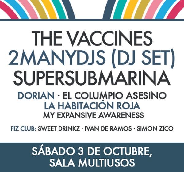 El FIZ 2015 confirma a The Vaccines y 2ManyDjs
