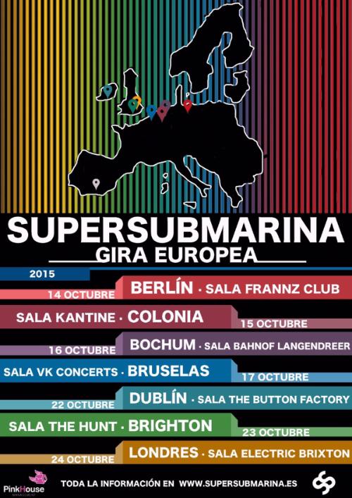Supersubmarina anuncia gira europea en Octubre
