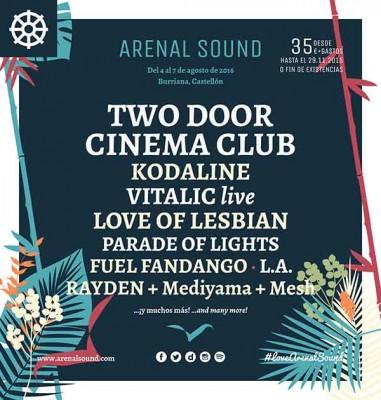 Segunda tanda de nombres para el Arenal Sound 2016