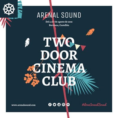 Two Door Cinema Club, primer cabeza de cartel del Arenal Sound 2016
