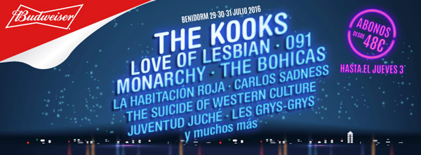 The Kooks o La Habitación Roja, al Low Festival 2016
