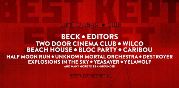 Incredible primera tanda de nombres para el Best Kept Secret Festival 2016