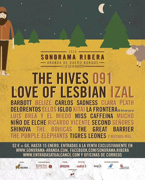 25 nuevas bandas para el Sonorama Ribera 2016