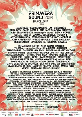 Ya se conocen los horarios para el Primavera Sound 2016