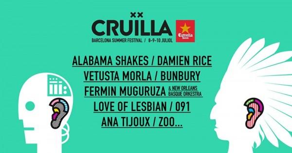 Damien Rice o Alabama Shakes, al Cruïlla Barcelona 2016