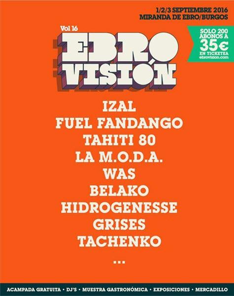 Ebrovision 2016 anuncia sus primeros nombres