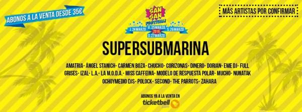 Supersubmarina, segundo cabeza de cartel del SanSan Festival 2016