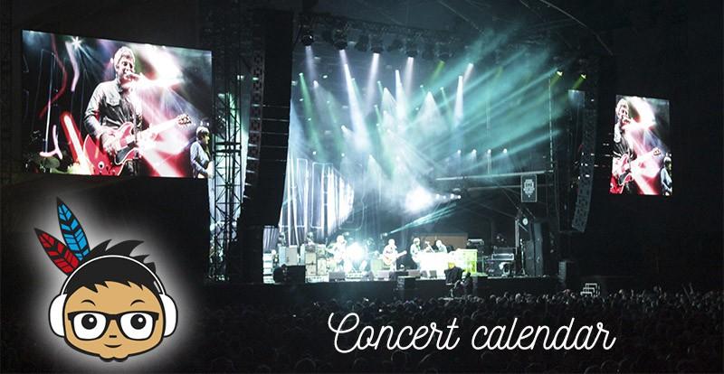 Concert calendar Indieofilo