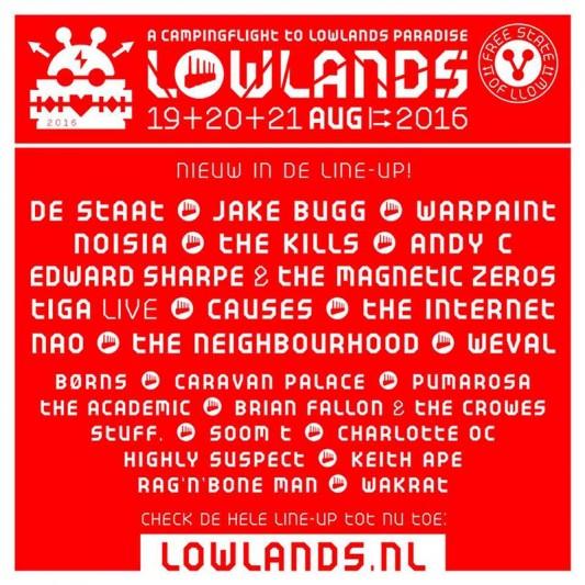 Jake Bugg o The Kills, al Lowlands 2016