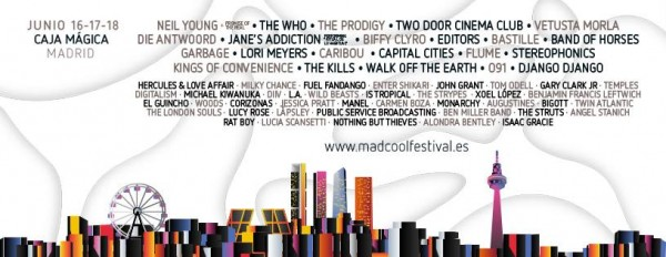 Mad Cool Festival 2016 close its line-up with The Who or Editors
