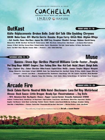 Coachella 2014 lineup announced