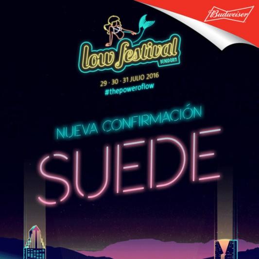 Suede confirmados en el Low Festival 2016