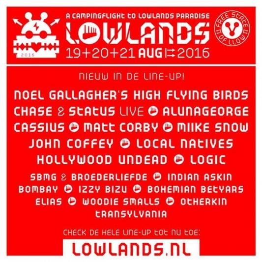 Noel Gallagher confirmado para el Lowlands 2016