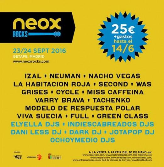 Primeros nombres para el Neox Rocks 2016