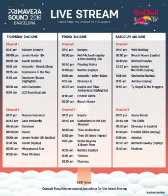 Primavera Sound 2016 Livestream