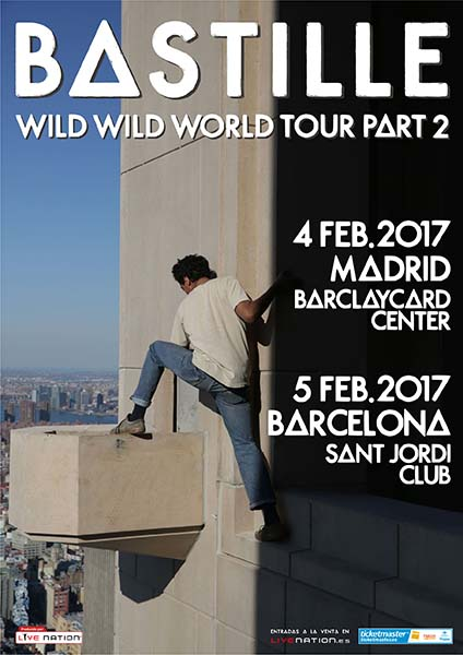 Bastille will play in Madrid and Barcelona in February 2017