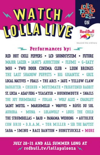 Lollapalooza 2016 livestream