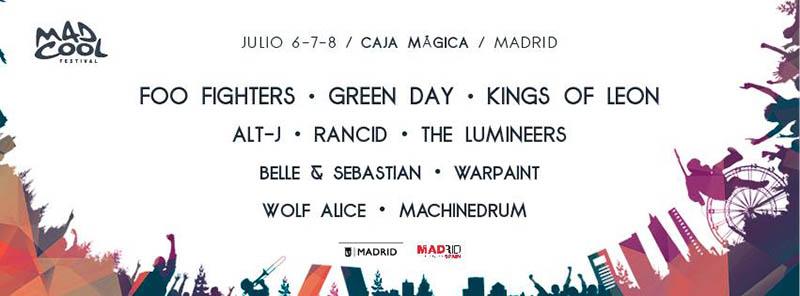 Mad Cool Festival 2017 confirma tres nuevas bandas