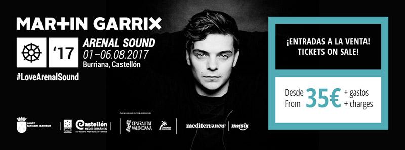 Martin Garrix, primer nombre del Arenal Sound 2017