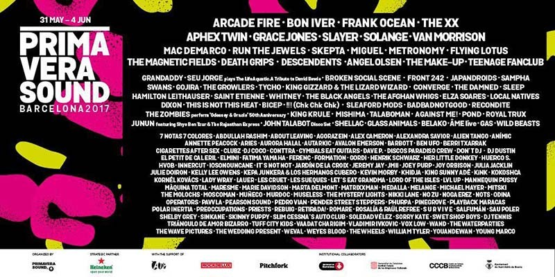 Pitchfork announces lineup for its Primavera Sound 2017 stage