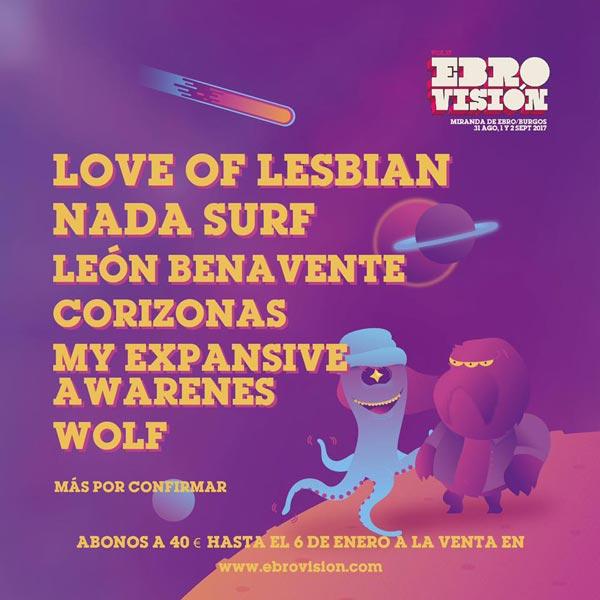 Love of Lesbian confirmados para el Ebrovisión 2017