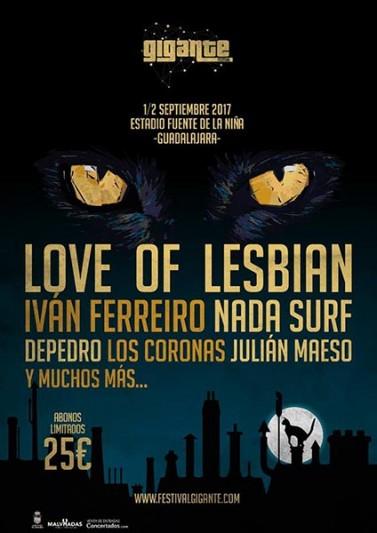 Love of Lesbian, nueva banda para el Festival Gigante 2017