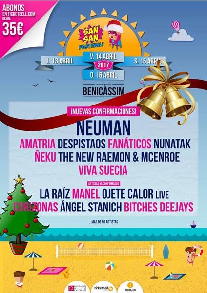 El SanSan Festival 2017 confirma 8 nuevos nombres