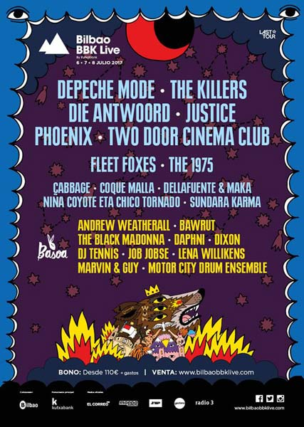 Justice and The 1975 to Bilbao BBK Live 2017