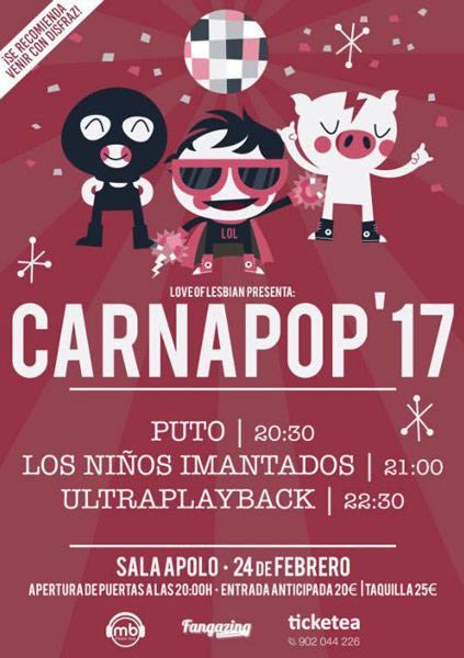 Love of Lesbian anuncian que el Carnapop 2017 se celebrará en la sala Apolo de Barcelona