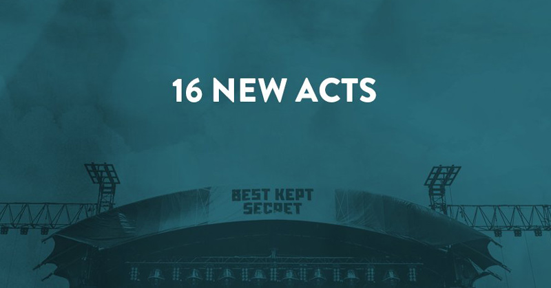 16 New acts for Best Kept Secret Festival 2017
