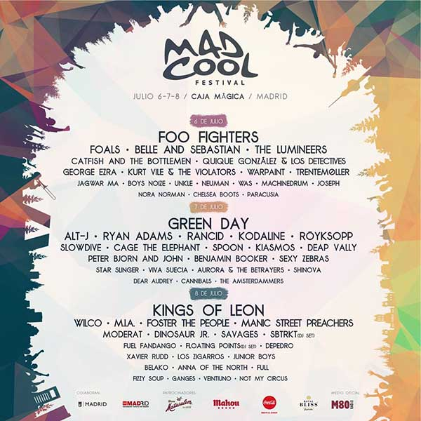 Manic Street Preachers and George Ezra confirmed for Mad Cool Festival 2017
