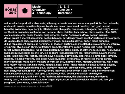 Sónar 2017 finalizes its lineup with 10 new names