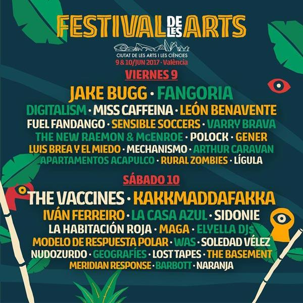 Cartel por dias Festival de les Arts 2017