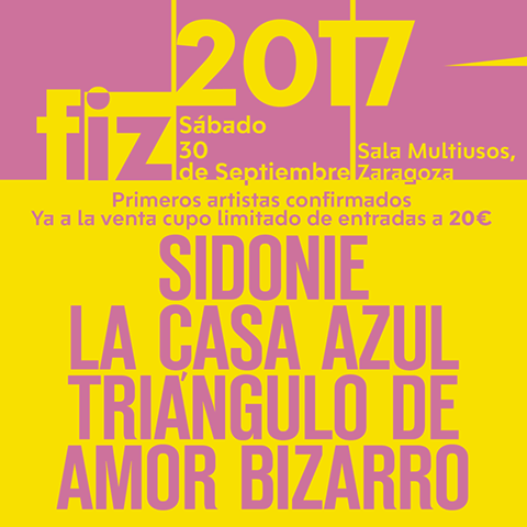 Primeros nombres para el FIZ 2017